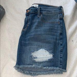 Girls Abercrombie Blue Jean Shorts